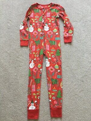 Next Christmas All In One Pyjamas - Size 9 Years