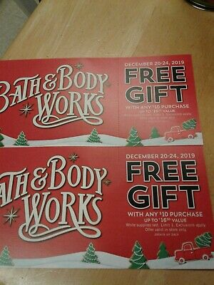 Lot of 2 Bath & Body Works Coupons