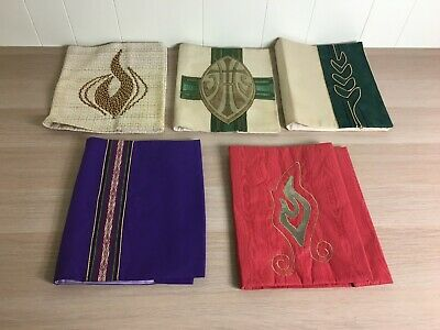 5 Liturgical Book Or Missal Covers + Altar + Vestment