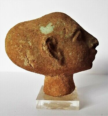 A Beautiful & Genuine Ancient Egyptian Bust of *AKHENATEN* father of King Tut !