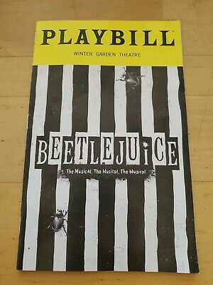Beetlejuice Broadway Playbill OBC SHOW IS CLOSING SOON BUY WHILE AVAILABLE!!