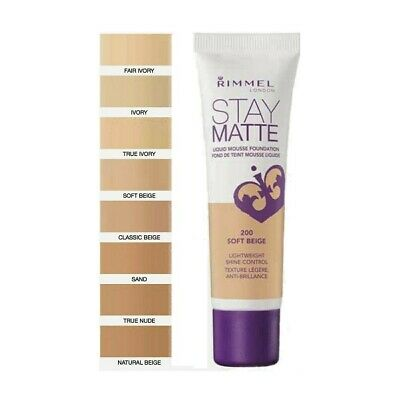 Rimmel Stay Matte Liquid Mousse Foundation 30ml various shades