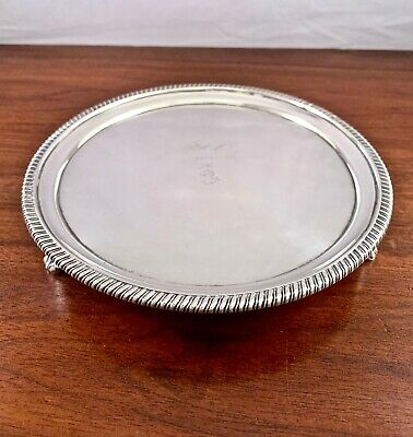 William Bennett Sterling Silver Georgian Footed Salver Tray: 1806 London, 513G