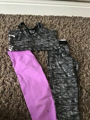 Girls gym or dance wear. USA Pro Leggings and vest tops.