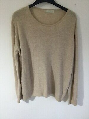 Marks & Spencer Ladies Pure New Wool Jumper Natural Size 18