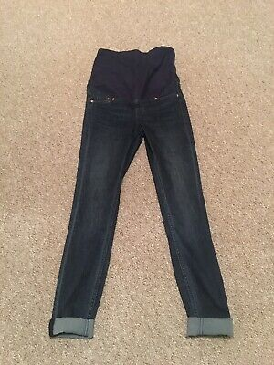 H&M Mama Maternity Over The Bump Super Skinny High Rib Jeans Size 8 Worn Once