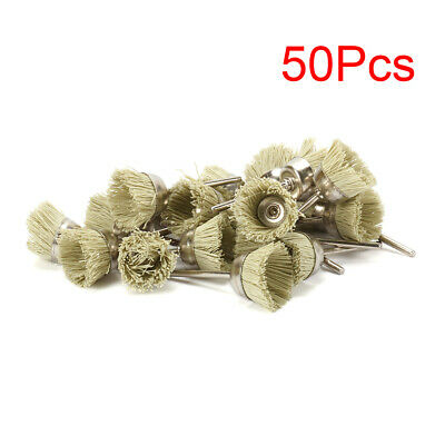 """3mm Shank Mini Y Type Abrasive Nylon Cup Brush Cleaning For Jewelry New 1"""" 50Pcs"""