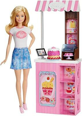 NEW Barbie Mattel Careers Bakery Shop Playset with Blonde Doll cupcake business