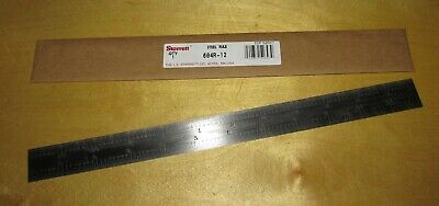 """Starrett No. 604R Rule, 12"""" Spring Tempered Steel Rule, New Old Stock"""