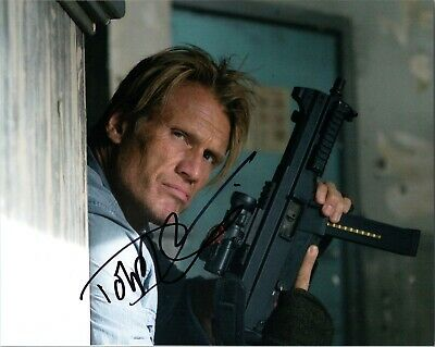 """~~ DOLPH LUNDGREN Authentic Hand-Signed """"The Expendables"""" 8x10 Photo ~~"""