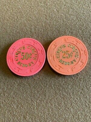 $0.25 & $0.50 Circus Circus Reno - Hard To Find! Must Have! Very Nice! Look!!