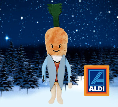 Official Aldi Kevin the Carrot Soft Stuffed Toy Official Genuine 2019 Kevin