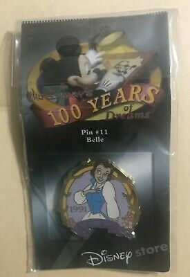 Disney Pin 100 Years of Dreams #11 Belle 1991 Limited Edition
