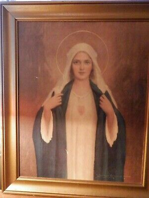 Immaculate Heart of Mary church Altar portrait priest estate gorgeous