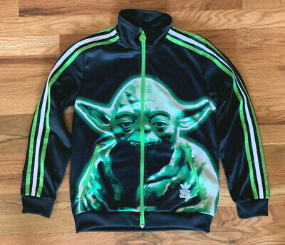 BOYS YOUTH ADIDAS Star Wars Yoda Track Jacket Size Large