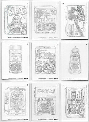 Wacky Packages Online Old School Series 8 Pencil Rough Set 30 Cards