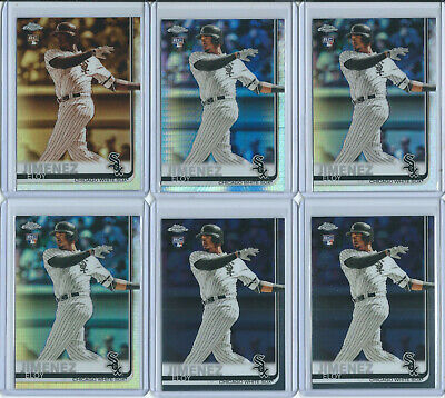 2019 Topps Chrome Eloy Jimenez Rc Rookie LOT of 11 Sepia Prism Refractor Sox