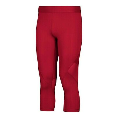 adidas Mens Alphaskin Sport 3/4 Tights X-Large Power Red New