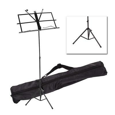 Brand New Musical Black Color Metal Adjustable Folding Music Stand with Bag