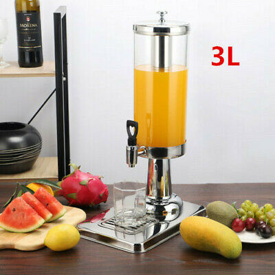 3L Single Bowl Beverage Juice Milk Dispenser Stainless Cold Drink Machine Home