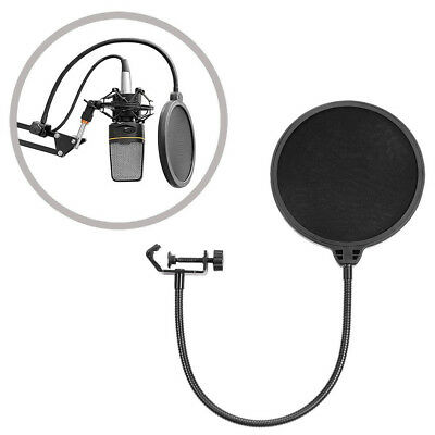 Recording Studio Microphone Filter Mic Wind Screen Mask Shield Double Layer