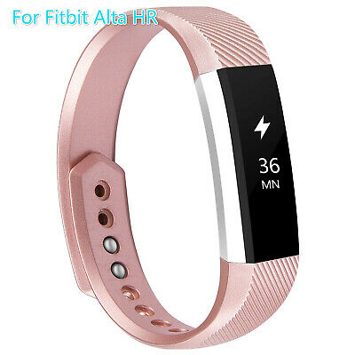 For Fitbit Alta HR Men Women Straps Sport Wristbands Replacement Bands Rose Gold