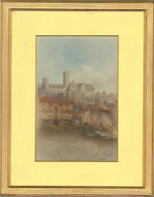 Framed Early 20th Century Watercolour - Lincoln Cathedral