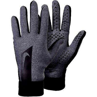 Nike Academy Hyperwarm Field Player Mens Adults Training Football Gloves Dk Grey