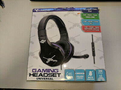 Subsonic Gaming Headset + Mic Control * Playstation 4 Xbox One Switch Ps4