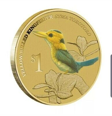 2013 Australian Kingfisher $1 coin PNC Coloured UNC Coin