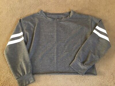 Ladies/girls Long Sleeve Cropped Top Approx Size 12