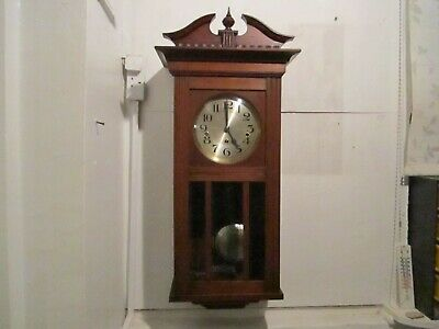 Antique Stunning Westminster Chime Wall Clock In Very Good Working Order