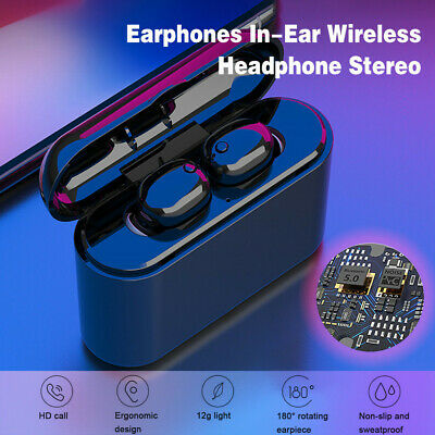 BT Earphones In-Ear Wireless Headphone Stereo Earbuds Sports Headset With Mic US