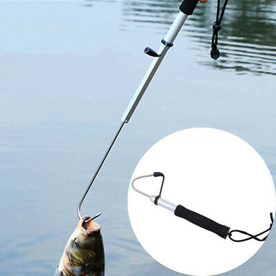 Practical Sea Telescopic Fishing Gaff Spear Hook Fishing Tools Supply 6L