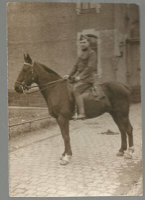 Ancienne Photo Cavalier Armee Belge 1920