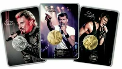 Disponible ! Lot Blisters Medailles Johnny Hallyday 2019 - Serie Limitee Rare