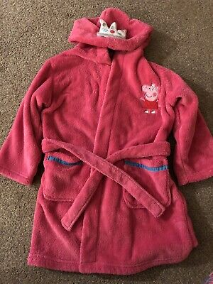 M&S Peppa Pig Dressing Gown Age 2-3. Good Condition.
