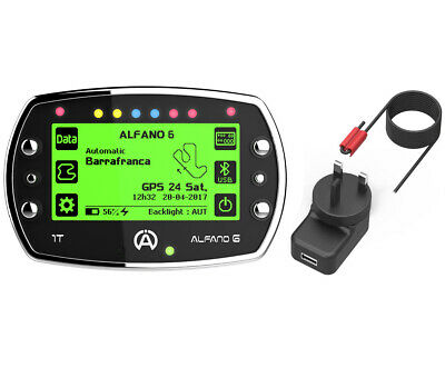 Go Kart Alfano 6 GPS Unit With RPM Lead & Charger 1T