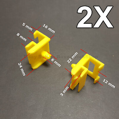 2X Trim Clips for Side skirts, Sills, Rocker Retainer for BMW