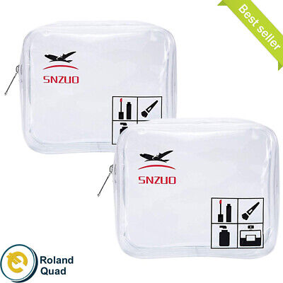 2Pcs TSA Approved Toiletry Bag Quart Bags For Airport Security Liquid Bags,...