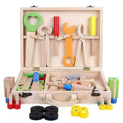 DIY Wooden Tool Toys Kids Toolbox Educational Toy Construction Tools Baby Gift