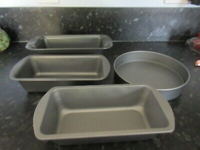 Collection of Non Stick Cake tins one round and 3 rectangle tins