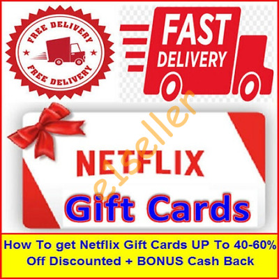 How To Get Netflix Gift Card 40-60%Off Discounte EB00k PDF (Instant Delivery)