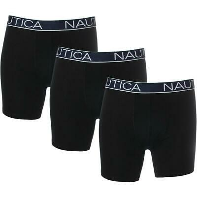 Nautica Men's 3 Pack Assorted Cotton Boxer Brief Underwear