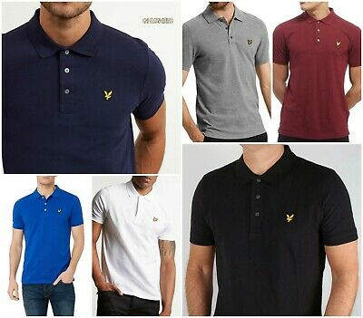 Men's Lyle and Scott Short Sleeve Polo Shirt Winter Clarence Sale !!