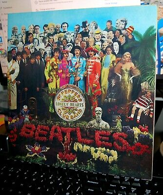 "THE BEATLES.  ""Sgt PEPPER'S LONELY HEARTS CLUB BAND""  PARLOPHONE UK 1991 LP. G/F"