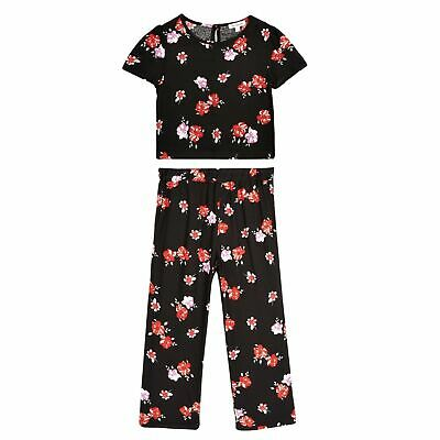 BNWT Debenhams Bluezoo Girl's Outfit, Trousers + Top Set, Black & Red,12 Years