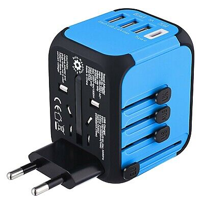Upgraded Universal Travel Adapter, FANSBE All-in-one International Plug A... New