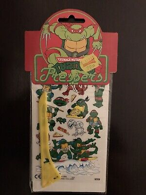 Teenage Mutant Hero Turtles Pressers 1990 Wrapped Rare Stickers US Comics Ninja