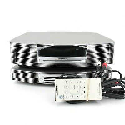 BOSE Wave Music System with 3-Disc CD Changer AM/FM AUX  w/ Remote - WORKS